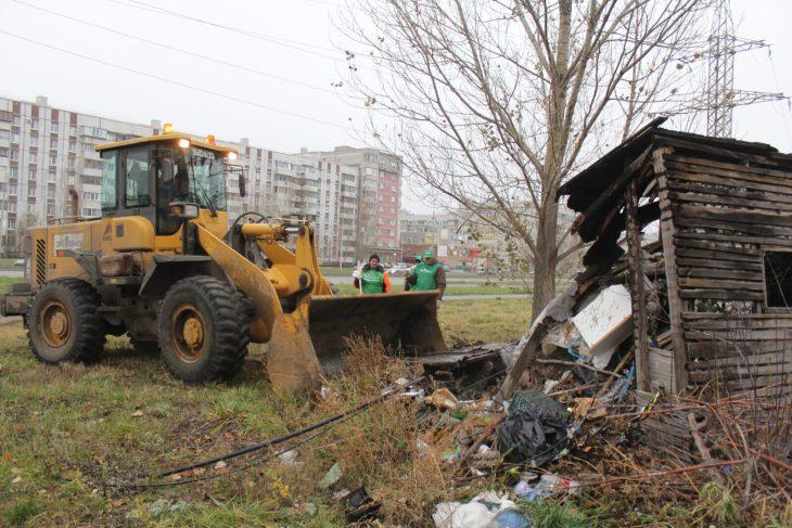 В Тольятти убирают несанкционированные свалки. Но не все