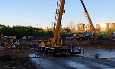 Дмитрий Азаров показал начало строительства школы на пятой просеке