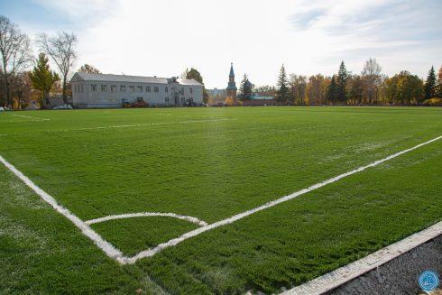 В Самаре в поселке Мехзавод продолжается капитальный ремонт стадиона «Салют»