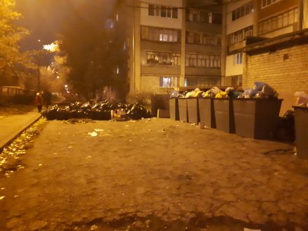 В Тольятти один из дворов утопает в мусоре