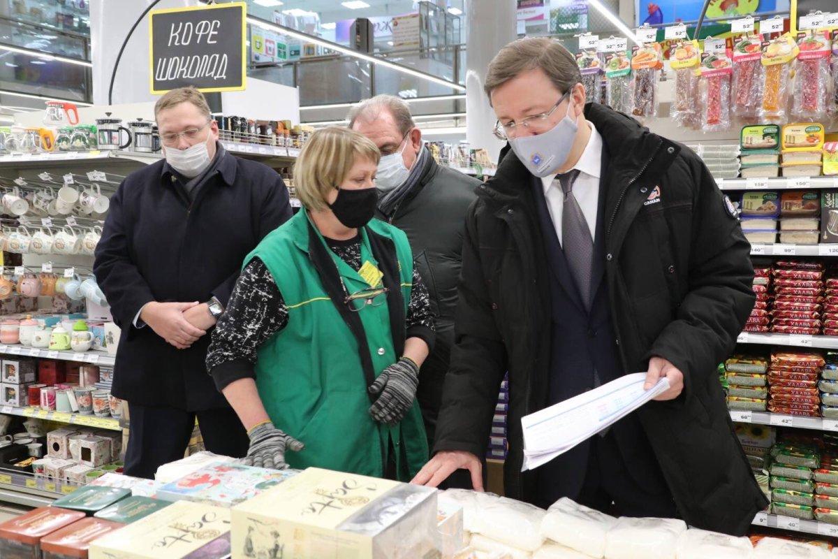 Дмитрий Азаров проинспектировал цены на продукты в Тольятти