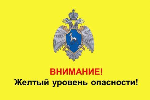 В Самарской области объявлен желтый уровень опасности