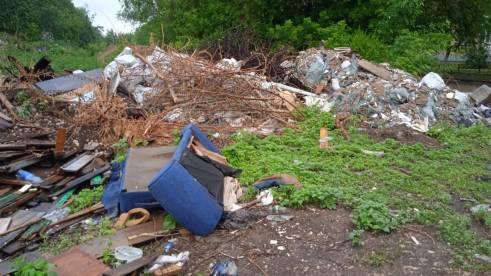 В Кировском районе Самары ликвидировали несанкционированную свалку