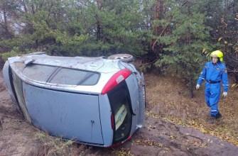 В Тольятти из-за гололёда перевернулся автомобиль