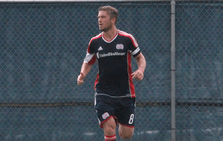Revolution defender Chris Tierney played a crucial role in Saturday's 2-0 win over Toronto. (Photo: Kari Heistad/capturedimages.biz)