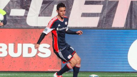 Revolution midfielder Diego Fagundez scored his team-leading third goal of the season in Saturday's shock 2-0 win over the Dynamo. (Photo: Kari Heistad/CapturedImages.biz)