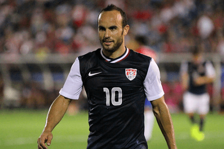 Landon Donovan scored and assisted three times in a dominant performance from the U.S., who won handily over El Salvador 5-1. (Photo: Kari Heistad/capturedimages.biz)