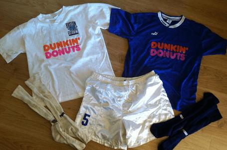 Tom Fragala's Boston Storm uniforms from the 1994 season.