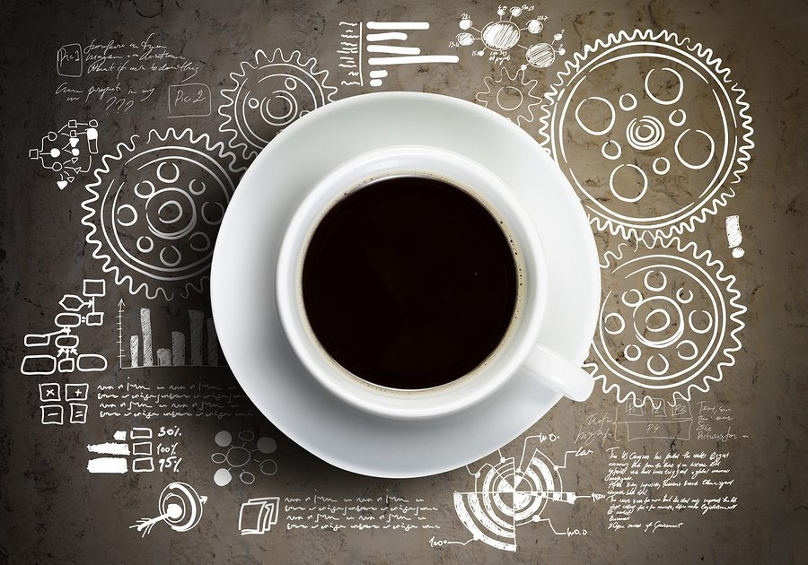 bigstock Close up of cup of coffee on t 65981263