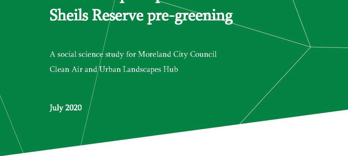 Residents' perceptions and use of Sheils Reserve pre-greening
