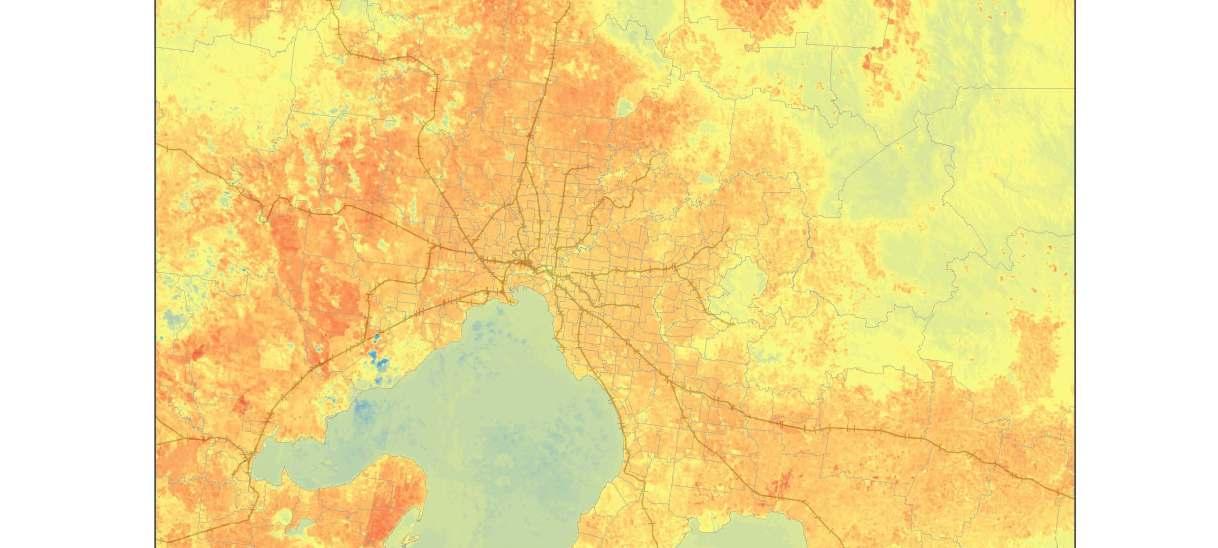 Urban vegetation, urban heat islands and heat vulnerability assessment in Melbourne, 2018