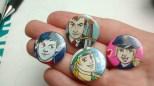 Bei uns gab es handgemachte Buttons!