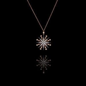 Μενταγιόν Αστέρι με Διαμάντια