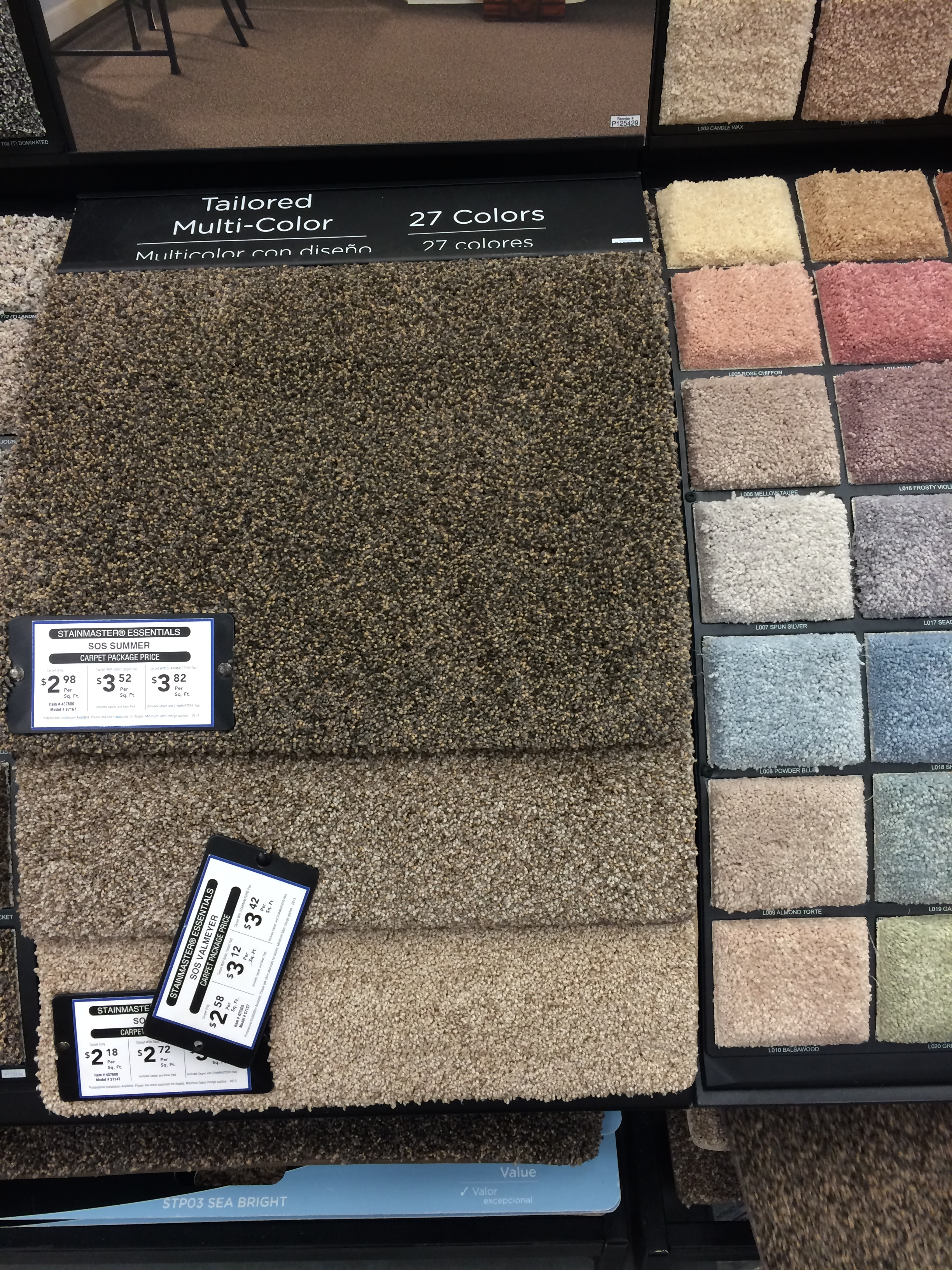 Stainmaster carpet   The Mace Place After talking with the flooring associate we decided to go with a Stainmaster  carpet