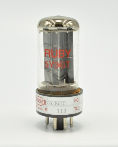 Ruby 5Y3GTC Rectifier tube