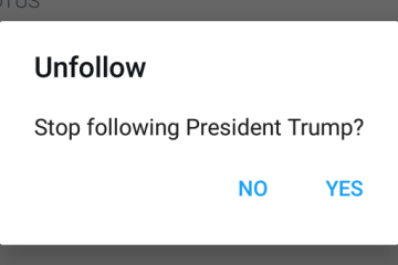 Stop following President Trump