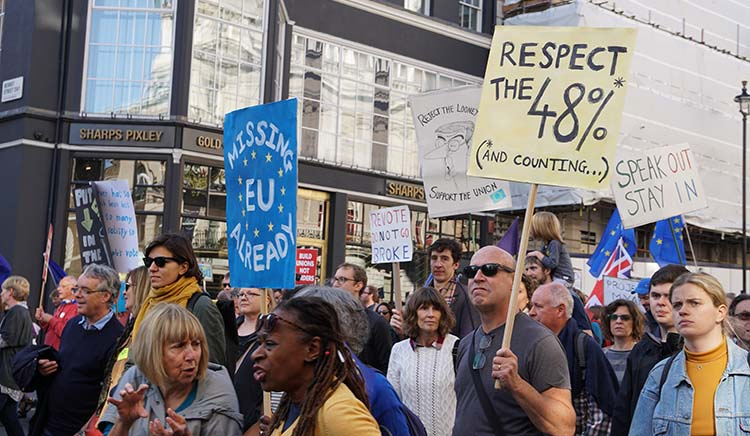 Peoples March in London October 2018