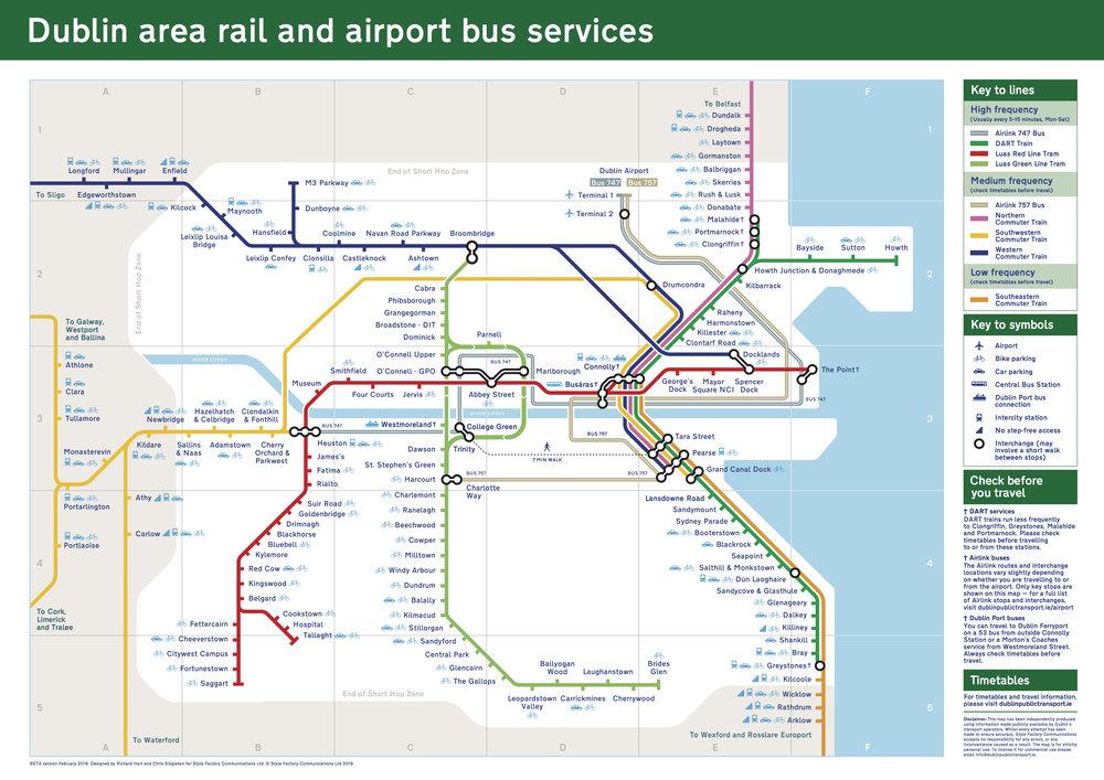 Dublin Rail Map
