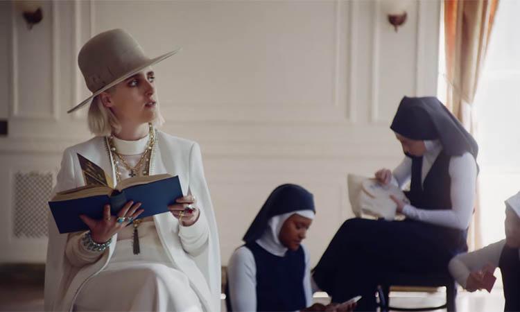 still from Shura's video for her track 'religion'