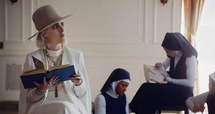 still from Shura's video for her track 'religion'