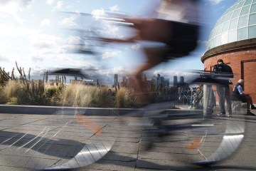 blurred bicycle at Greenwich