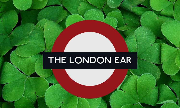 The London Ear Roundel on a bed of Shamrock