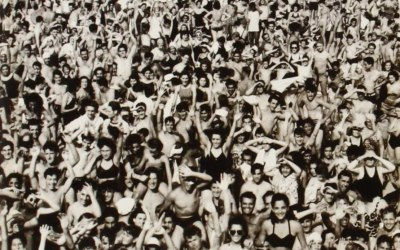 "Cover of George Michael's album Listen without Prejudice, photo taken by Arthur ""Weegee"" Fellig"