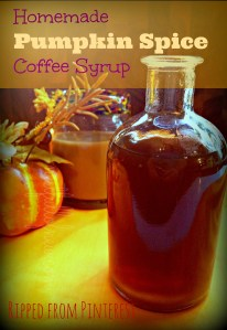 Homemade Pumpkin Coffee Syrup