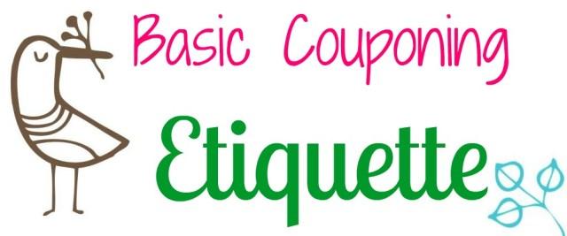 couponing etiquette