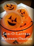 Mandarin Oranges Halloween Treats