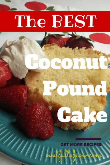The Best Coconut Pound Cake