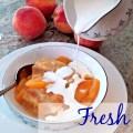 Peach Cobbler with Cream