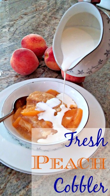 Peach Cobbler with Cream