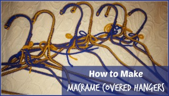 Macrame Covered Hangers