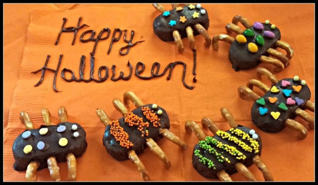 Candy Spiders Happy Halloween