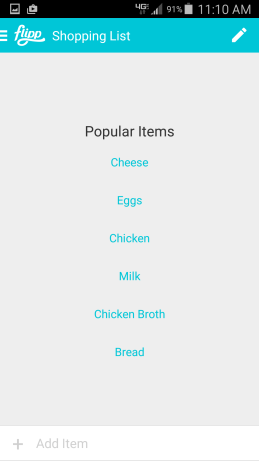 Flipp-Grocery List