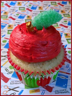 Back to School Apple Cupcake