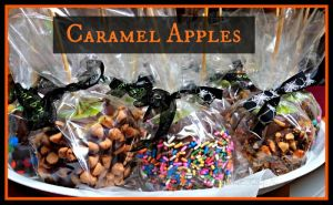 Super easy caramel apples dipped in chocolate with decorations. Can be modified for any holiday or event!