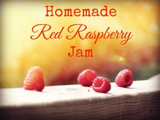 Homemade Red Raspberry Jam
