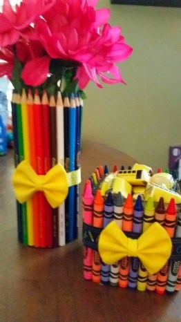 Crayon and pencil jars