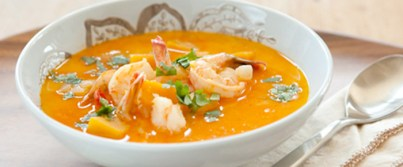 butternut-squash-and-coconut-soup-with-shrimp