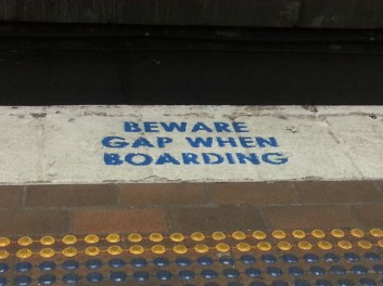 Beware gap when boarding