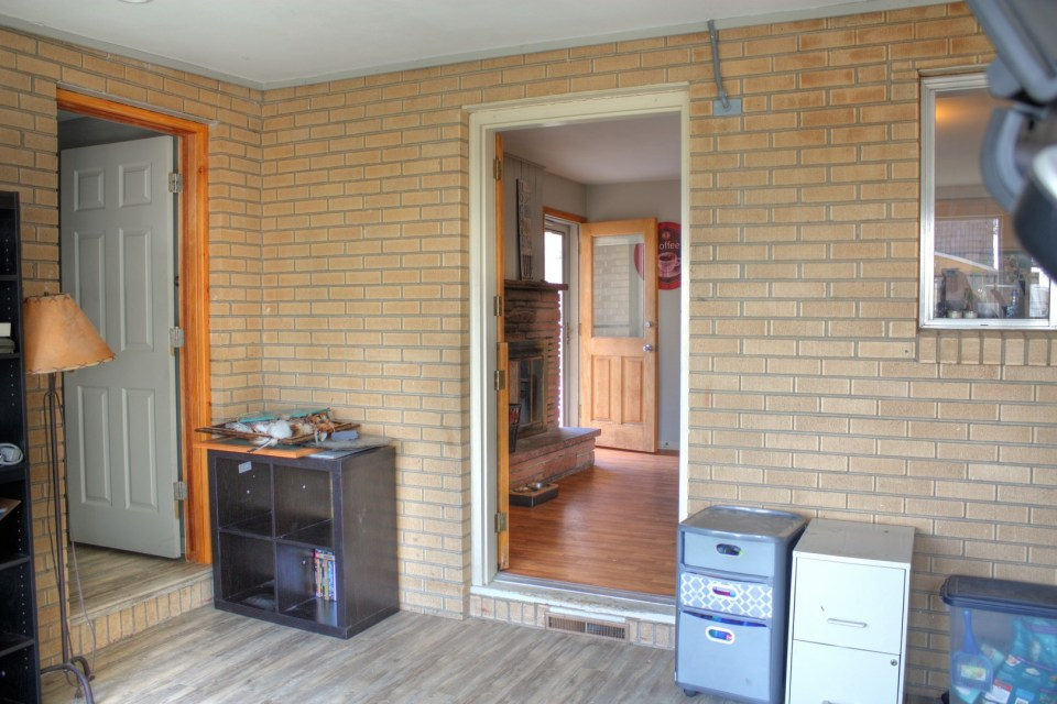 Enclosed and finished back porch