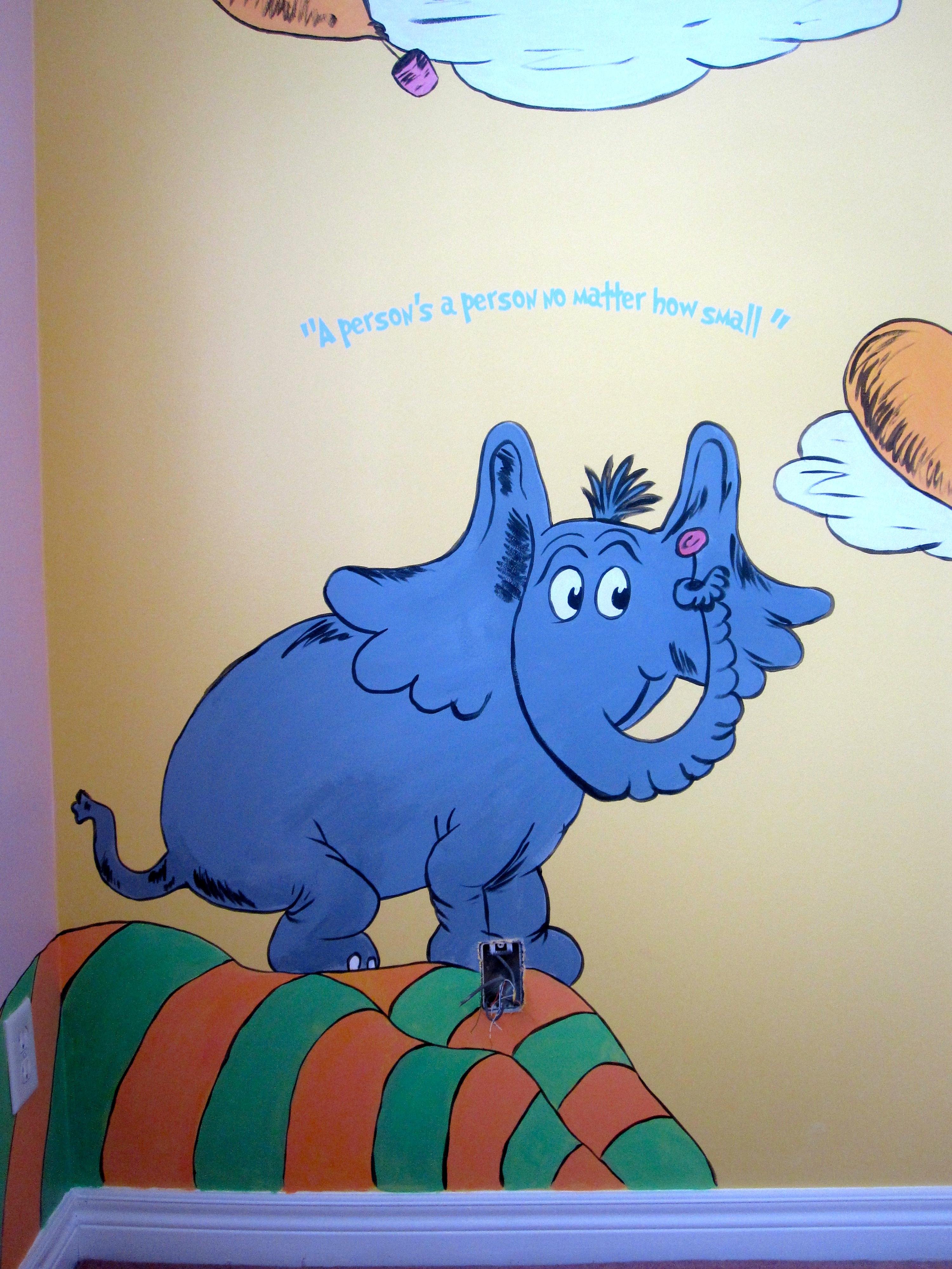 Dr Seuss Mural Nesting Story