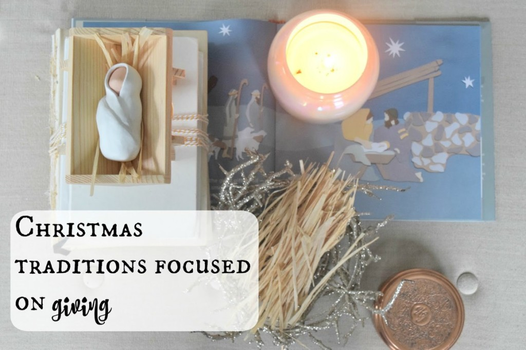 Christmas Traditions focused on Christ with The Giving Manger