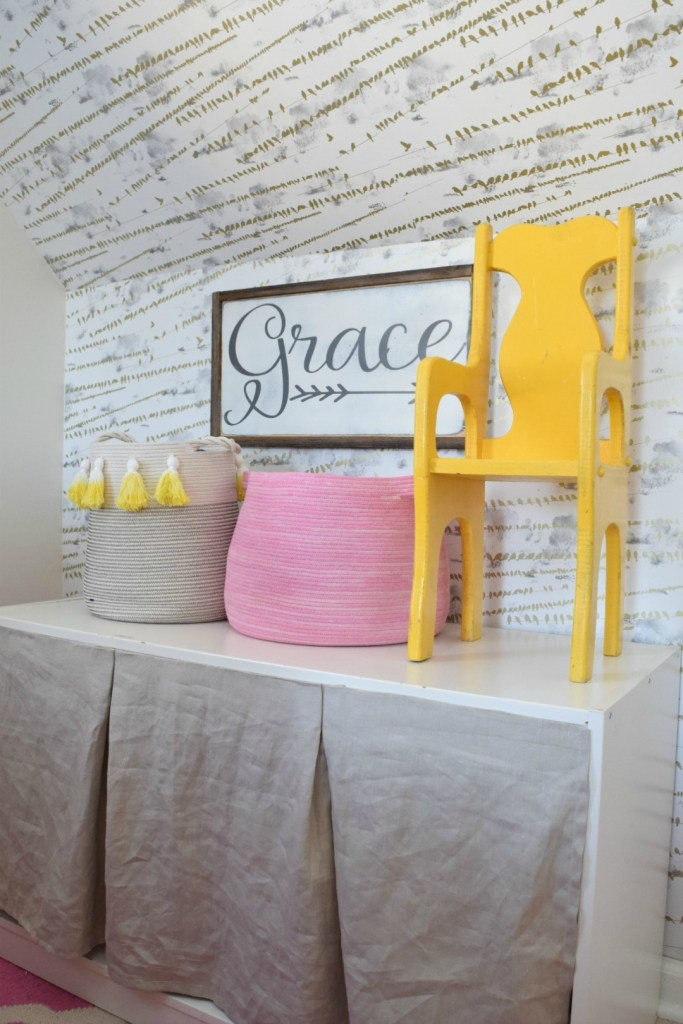 Decor for kids- girls bedroom with nesting with grace