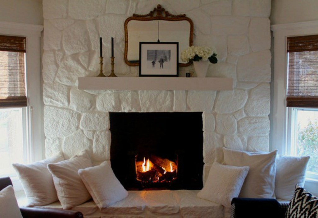 Painted white fireplace inspiration