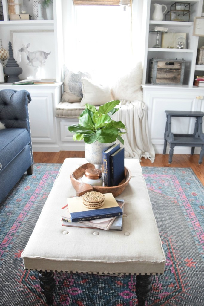 Favorite ottoman on Nesting with Grace Instagram