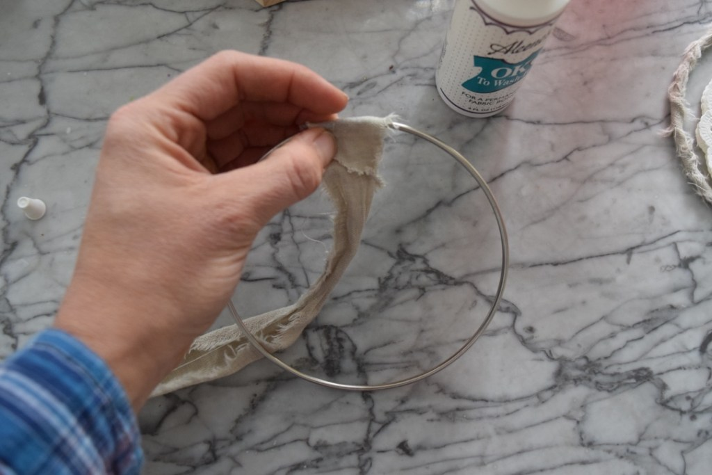 DIY dream catcher tutorial step 1