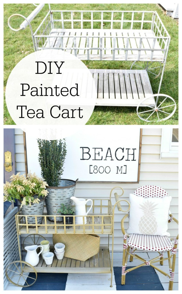 DIY painted deck patio decor